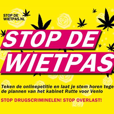 Stop de wietpas, reguleer de wietteelt!